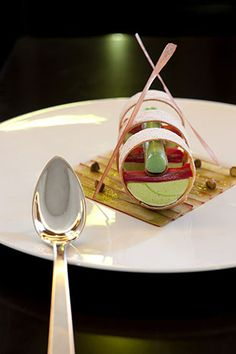 Patrick Henriroux's - La Pyramide Restaurant of a Grand Chef Relais & Châteaux #plating #presentation
