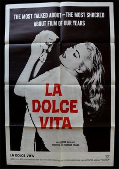 italian black and cream dolce vita posters - Bing Images