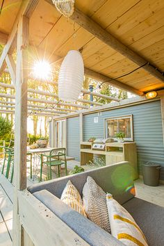 Outdoor Rooms, Indoor Outdoor, Outdoor Living, Outdoor Decor, Caravan Makeover, Caravan Renovation, Remodeling Mobile Homes, Home Remodeling, Bathroom Remodeling