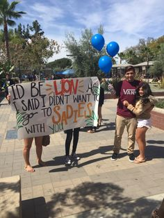 "Sadie Hawkins asking.  I asked my boyfriend at school during lunch...  I dressed up as a lion and the poster said   ""I'd be ""lion"" if I said I didn't want to go to SADIES with you."" I also got him balloons and asked him in front of his friends. He wasn't expecting it at all, because I was telling him for those passed few weeks that I didn't want to go and when I finally asked him it was like 3 days before."
