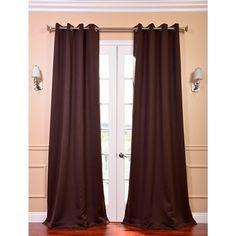 Grommet Java Designer Blackout Curtain Panel Pair