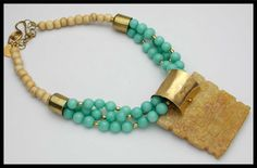 A TOUCH of the ORIENT - Faceted Celadon Jade - Handcarved Jade Pendant 3 Strand Necklace by sandrawebsterjewelry on Etsy