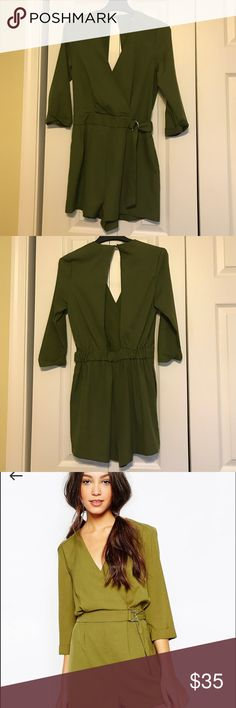Green Romper by Daisy Street, purchased from Asos Beautiful romper , size xs, but fits like a small, beautiful for date night or any night out, only worn once for about an hour. daisy street Other