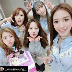 heo young ji with rainbow