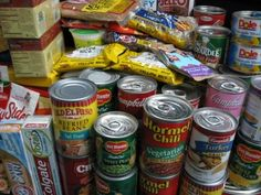 Canned and packaged foods are easy to share and make a big difference!