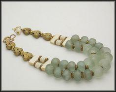 ZAZU  Handmade African Beads 2 Strand by sandrawebsterjewelry, $205.00