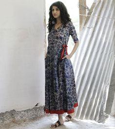 Floral wrap dress - KharaKapas