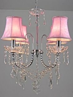 LIGHT CRYSTAL CHANDELIER WITH SHADES
