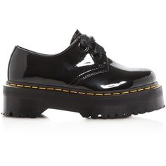 Dr. Martens Holly Platform Oxfords (€115) ❤ liked on Polyvore featuring shoes, oxfords, dr. martens, patent shoes, polish shoes, patent leather shoes and dr martens oxford