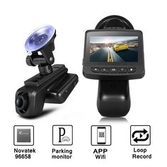 Dash Cam WIFI Car Dashboard Camera,Mini Hidden Video Driving Recorder Adjustable Lens Full HD 1080P, 150 Degree Wide Angle, Loop Recording,Compatible IOS Android APP,NightMode