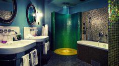 Smaragdgrönt badrum - Sköna hem
