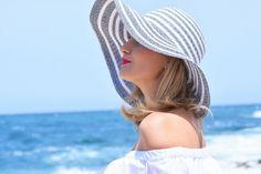 Malta, blue, water, kapelusz, hut, style, look, travel, trip, love, blonde, women,