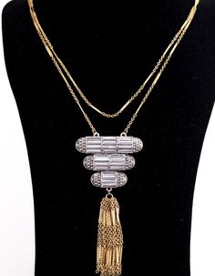 The Great Gatsby Tassel Necklace - Art Deco fabulousness in Gold and Silver at Global Traveller Homewares