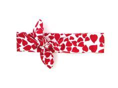 Child Heart Headband Heart Knot Headband Newborn by PoePoePurses #valentine #childheadband