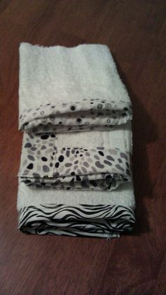 Cute burp rags made out of a towel!