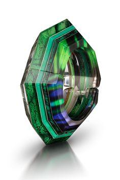 Kryptonite Bracelet by Jennifer Merchant. Carved acrylic.