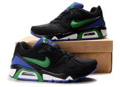 Mens Nike Air Max 91 Black Blue White Shoes W6khZ