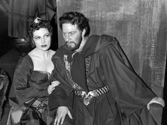 Rogers as Macbeth, with Coral Browne as Lady Macbeth, in the 1956