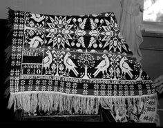 Harmony woven coverlet, 1840