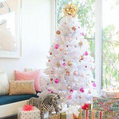 white christmas tree // Emily Henderson