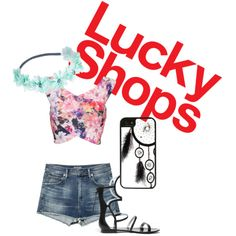 Lucky shops Contest #1 by itsagoldsky on Polyvore featuring mode, Wet Seal, CellPowerCases and DANNIJO