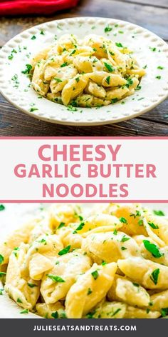 Garlic Butter Noodles with cheese make the perfect quick and easy side dish recipe! They can be made in less than 20 minutes are the enter family will love the garlic, pasta and cheese combo! This is the perfect side dish for a busy weeknight meal! Pasta Side Dishes, Quick Side Dishes, Pasta Sides, Dinner Side Dishes, Side Dish Recipes, Food Dishes, Steak Side Dishes, Italian Side Dishes, Garlic Butter Noodles