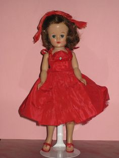 Vintage 1950s Vogue Jill Doll in Tagged Red by IngridsVintageDolls