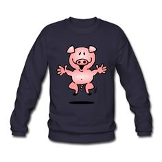 Piggy sweatshirt. #Spreadshirt #Cardvibes #Tekenaartje #pig #piggy #piglet #SOLD