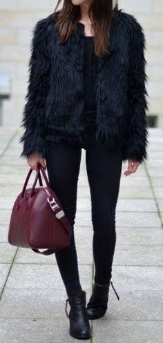 glam faux fur coat