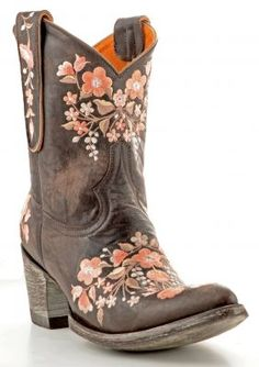 Womens Old Gringo Sora Boots Chocolate And Pink (via @Allens Boots)
