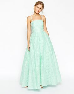 Aumentar ASOS SALON Premium Bandeau Ball Gown Dress