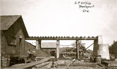 Post Office Construction - Reedsport OR, c. Southern Oregon Coast, Post Office, Past, Construction, History, House Styles, Sweet, Building, Candy