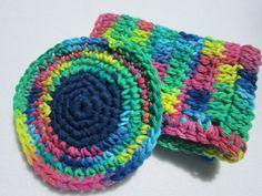 Cotton Tulle Kitchen Scrubbie and Dish by crochetedbycharlene, $7.00