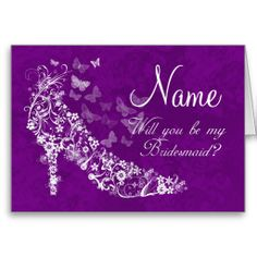 Bridesmaid Invitation Card - Will You Be My