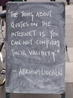 Not a hard and fast rule, but often something to keep in mind — take it from Abe.  (via)