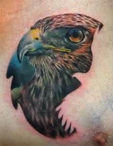 Hawk Tattoo, love the flying outline