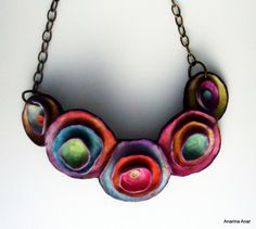 Polymer clay necklace by AnarinaAnar on Etsy, €55.00