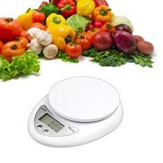 PicknBuy Cocina Digital / Paquete Escala De Peso Dieta Comida 5 KG 1G – Capacidad: Alrededor De 5914,7 Ml (5,7 Kg)/ 5000 G (5kg) – Precisión: 0,1 onzas / 1g ; Unidad: G/KG/Lb – Dimensiones:16.3mm x 12.8mm x 3.5mm – Pan Diámetro:110mm –...