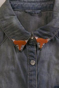 DIY ajouter des petits renards à votre col (tuto en espagnol mais avec photos étape par étape)