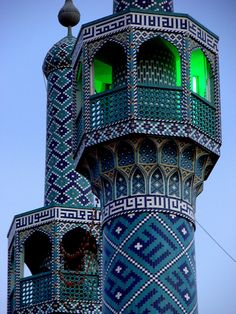 Beautiful minarets in Yazd city, Iran (by Mark Schlegel).