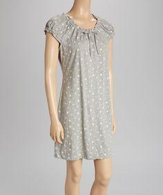 Look at this #zulilyfind! Gray & Pink Floral Midnight Dreams Nightgown by René Rofé #zulilyfinds