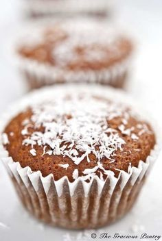 Clean Eating Coconut Pineapple Muffins: Ingredients: 1 1/2c. ww flour, 2t. baking powder, 1/2c. unsw. coconut flakes, 2 egg whites, 1/2 c. honey, 1/4c.safflower oil, 1/4c. light coconut milk, 1c. chopped pineapple...i might add vanilla or coconut or almond extract..u can try subst. anything u might not have, i think, and they'll still be good!
