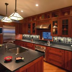 perfect kitchen for a pottery collector | craftsman kitchen