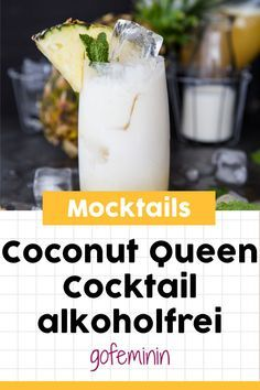 These non-alcoholic cocktails are perfect for gin and tonic fans!Unusual mocktails: these are the best cocktails without alcohol!Mud Bowl by Joviv Non Alcoholic Cocktails, Fun Cocktails, Cocktail Drinks, Cocktail Recipes, Drinks Alcohol, Gin Tonic, Smoothie Recipes, Smoothies, Beste Cocktails