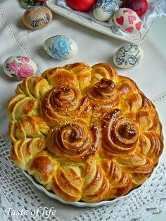 Taste of life: Lisnata suncokret pogača (masna i posna varijanta)...