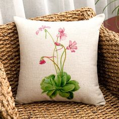 Flower pillow case for #Spring ==