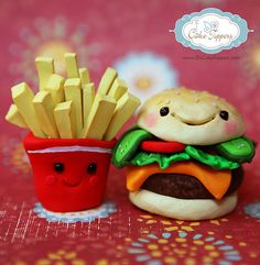 Fries AND Burger.....(and oh so YUMMY-CUTE!!!).....