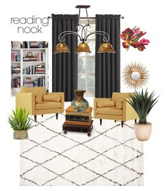 """Reading Nook Contest"" by jfkayla on Polyvore featuring interior, interiors, interior design, home, home decor, interior decorating, Nook, Sun Zero, Joybird and Frontgate"