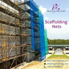 #Scaffolding #SafteyNet use to circle the building construction site in order to protect the workers or pedestrians from construction materials.