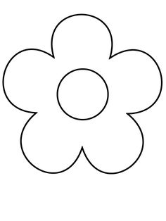 Flower+Coloring+Pages+For+Girls | Simple Shapes Coloring Pages